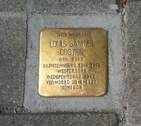 Louis Samuel Coster - J.P. Sweelinckstraat 14 - Stolperstein Enschede www.secondworldwar.nl/enschede/