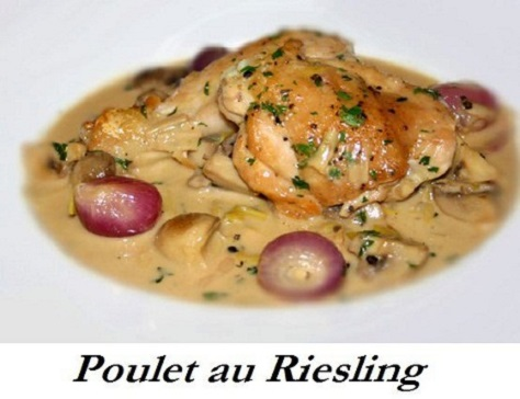 recette alsacienne du poulet au riesling