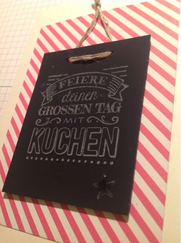 Stampin up Schiefertafel