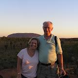 AU - Ayres Rock at Sunset