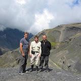 De gauche à droite : J. F. Christensen, H. Bloch & Peter Møllmann. Col de la Cumbre del Cristo à 4650 m d'altitude (Bolivie), 22 janvier 2004