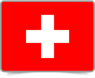 Swiss framed flag icons with box shadow
