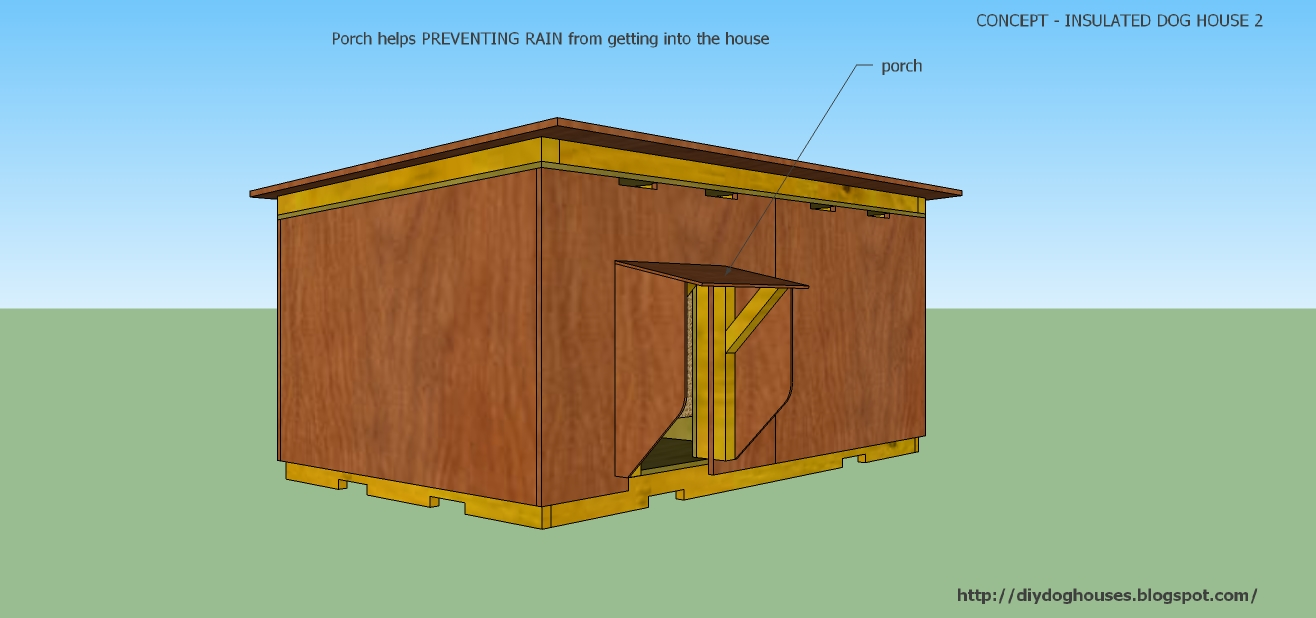 Dog house plans concept insulated dog house 2