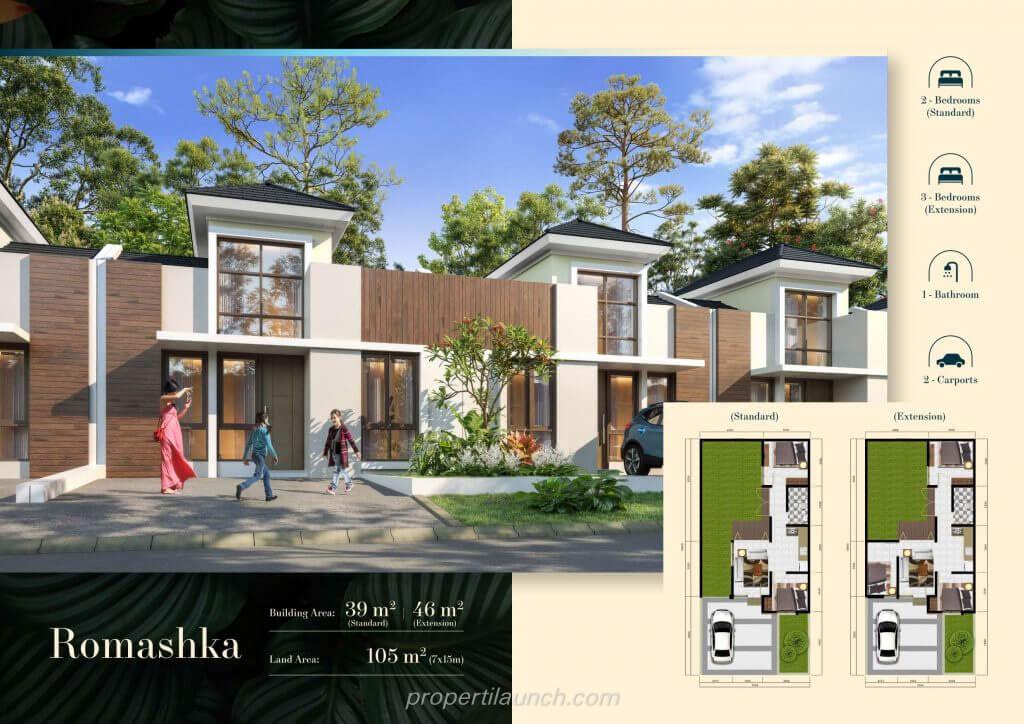 Rumah Cluster Volga Citra Sentul Raya Bogor - Romashka
