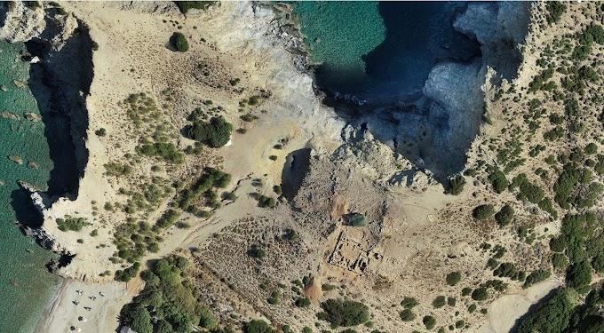 Μινωική παράκτια  εγκατάσταση στο Καλό Χωράφι Μυλοποτάμου -1700 π.Χ.
