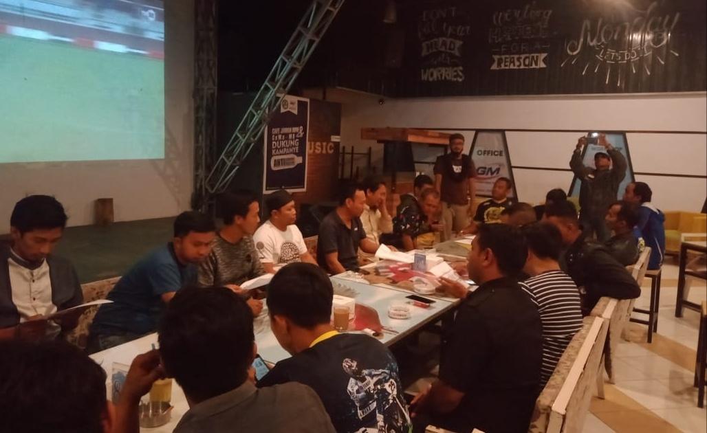 Pendaftaran Kejurnas Drag Bike Bupati Gowa Cup ll di Cafe Jaman Now