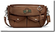 Shiny Glovetan Utility Messenger Bag in Saddle (28702 LHSAD)