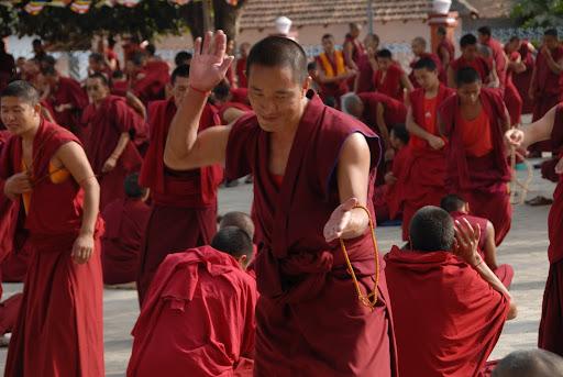 Monks in debate at Sera Je Monastery