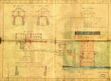 Progetto del locale di manovra per la chiavica, della casa del custode e dell'allungamento della volta d'imbocco del canale.