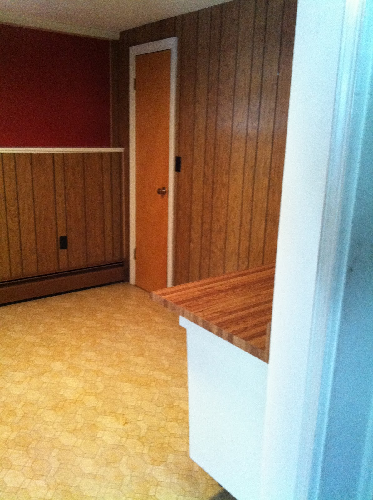 The Pfaff Pfix: Painting Wood Paneling. Full resolution  photograph, nominally Width 1195 Height 1600 pixels, photograph with #AD7F1E.