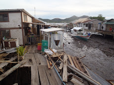 much of Coron town is over water- whole neighborhoods are on stilts