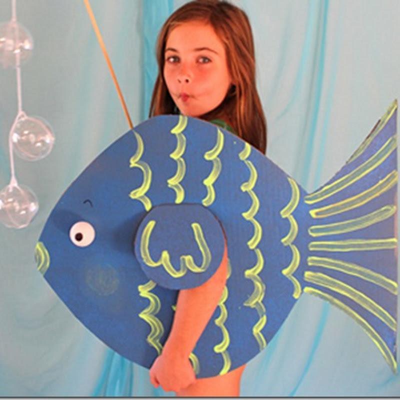 Disfraz casero de pez para escolares