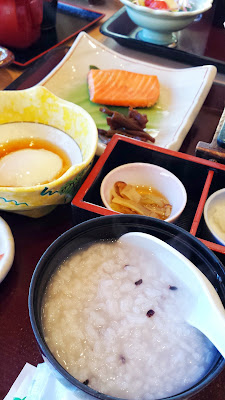 You have the option of white rice, brown rice, or what I selected which is a porridge along with your kaiseki breakfast at Wakakusa no Yado Maruei