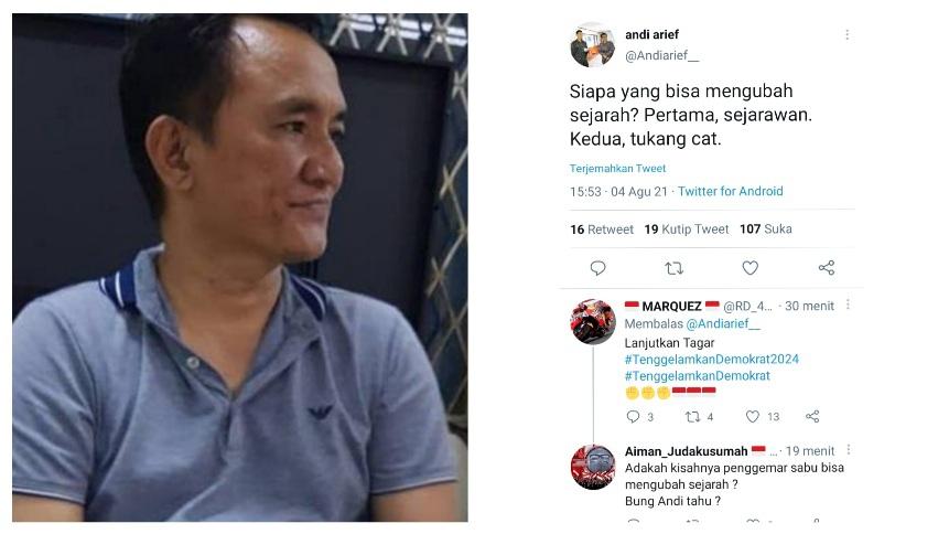 Andi Arief Bertanya soal Siapa yang Bisa Mengubah Sejarah? Netizen: Adakah Kisahnya Penggemar Sabu Bisa Mengubah Sejarah ?