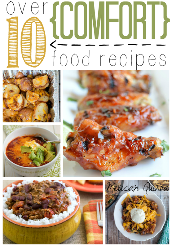 Over 10 Comfort Food Recipes at GingerSnapCrafts.com #linkparty #features