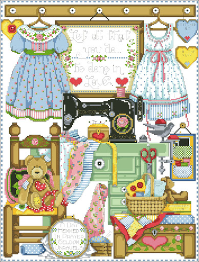 The Sewing Room chart