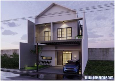Desain rumah minimalis sederhana monokrom