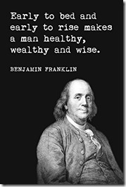 Early to Bed Ben Franklin poster