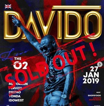 DONE!! Davido Sells Out 'The O2, London'