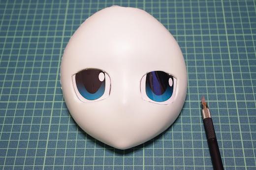 宇佐羽えあ無地マスク改造