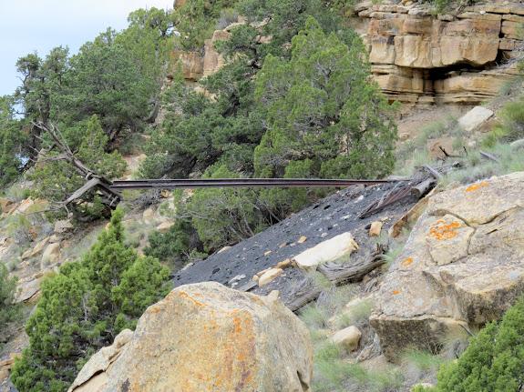 Rails and coal pile
