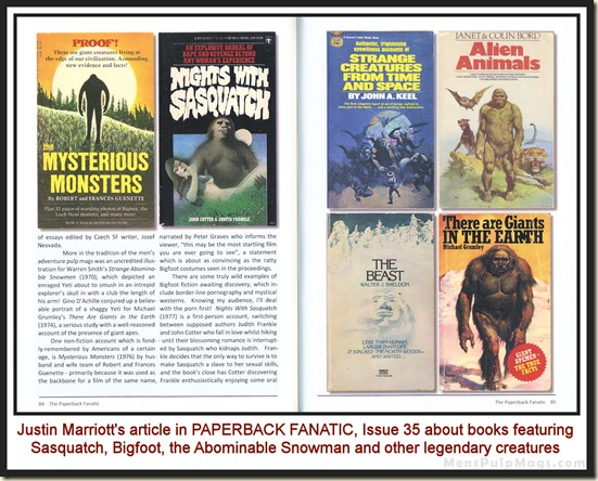 PAPERBACK FANATIC, Issue 35, Bigfoot wm