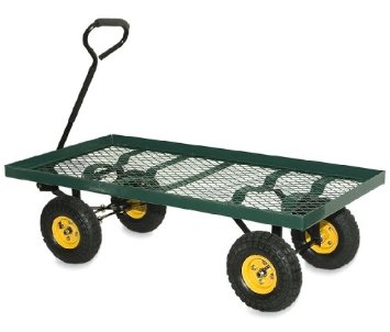 New Heavy Duty Towing Nursery Wagon Garden Cart With Lawn Tires
