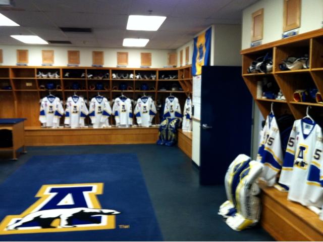 Alaska Nanooks Hockey Locker Room