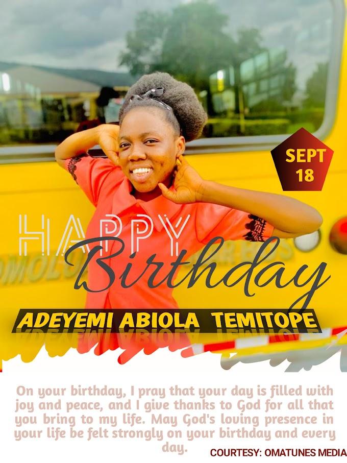 [Birthday ]Happy birthday to Adeyemi Abiola