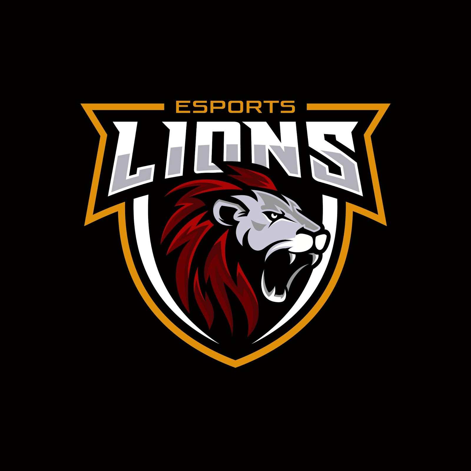 Lion Head Gaming Logo Esport Sport Mascot Free Download Vector CDR, AI, EPS and PNG Formats