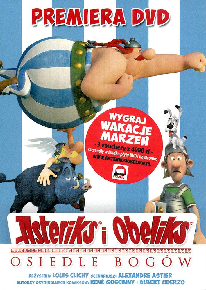 Ulotka filmu 'Asteriks i Obeliks: Osiedle Bogów (przód - wersja B)'