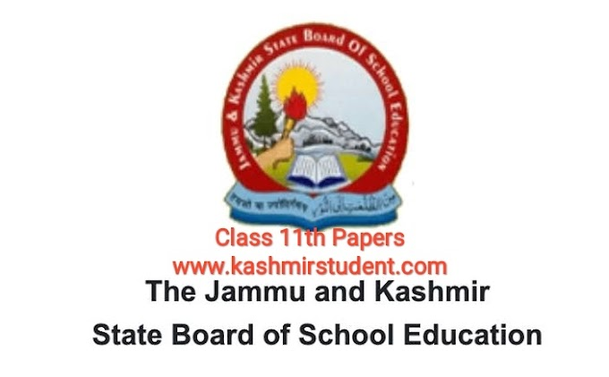 Download JKBOSE Class 11th Guess/Model Test Papers 2020-21