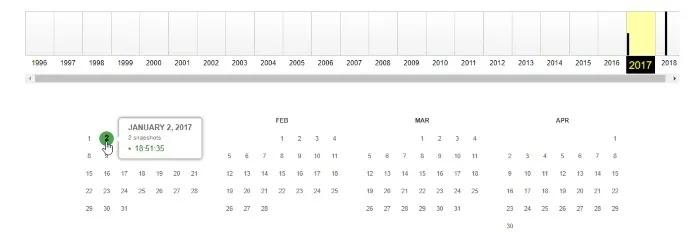 تاريخ الموقع التقويم