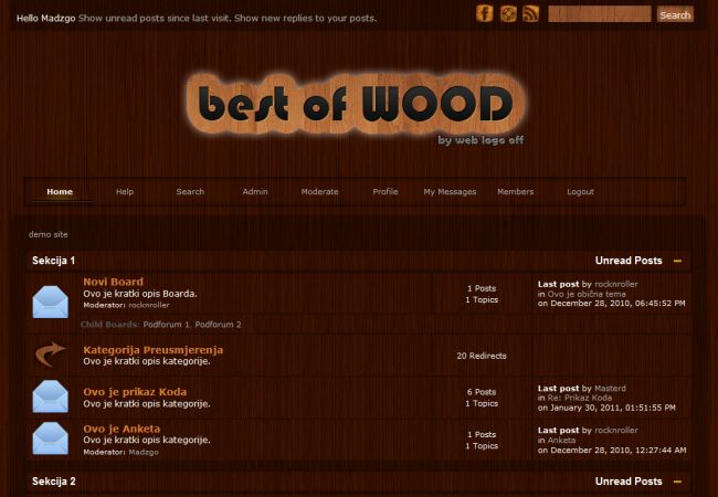 Wooden SMF 2.0 Abstract Theme Template