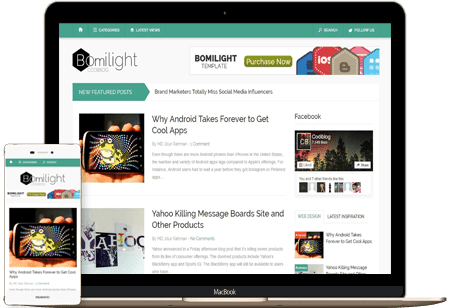 Bomilight - Responsive Bold Blogger Template
