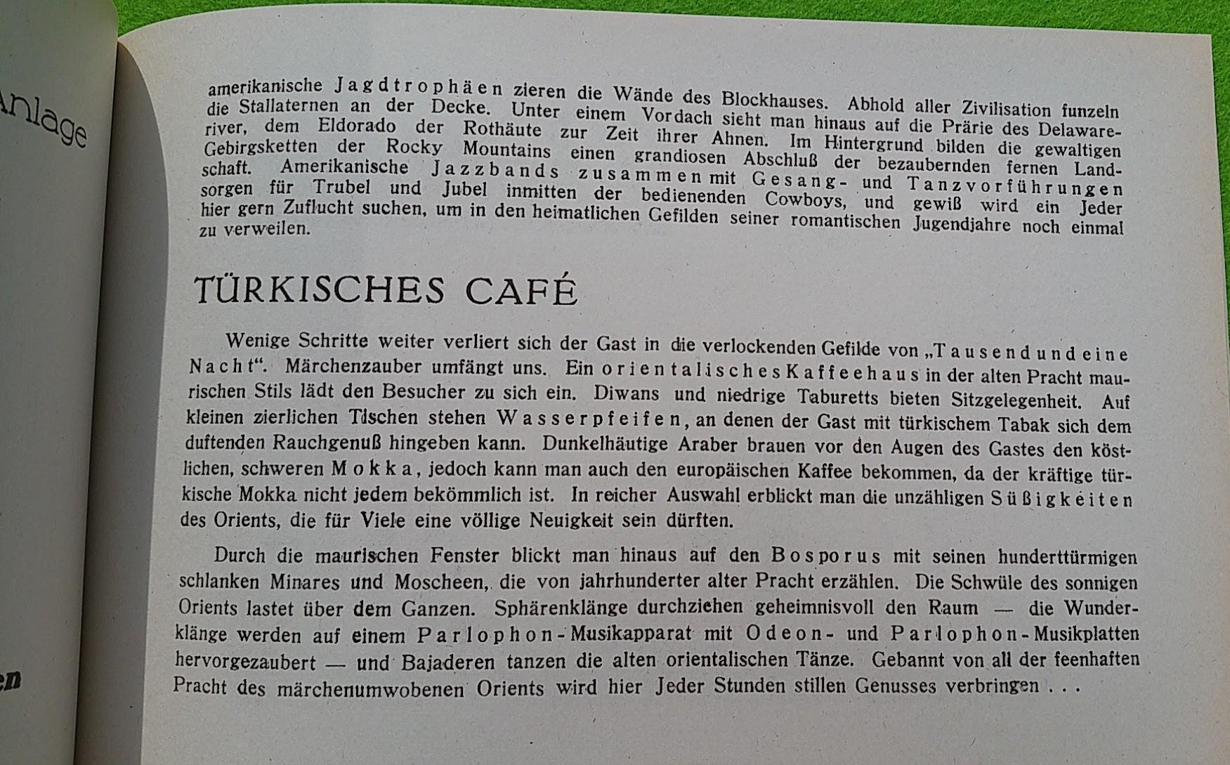 Begleitheft zur Eröffnung von Haus Vaterland am Potsdamer Platz, Berlin, 31. August 1928 - Türkisches Café