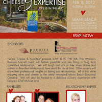 """Wine, Cheese & Expertise"" presents LOVE IS IN THE AIR. This Women's Business Council event will feature panelists who are living in long term committed relationships.  We will laugh and cry as they share stories and advice on how their relationships have stood the test of time.  Other experts will share their professional insights on dating and relationships.  All of this while enjoying wine and cheese in the newly renovated Miami Beach Botanical Gardens.  We will also be treated to a delicious culinary experience with Epicure's Chef Michael Love."