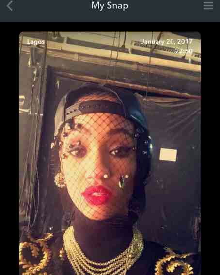 Dija Wears Net As She Loads Her Face With Rings (Photo)