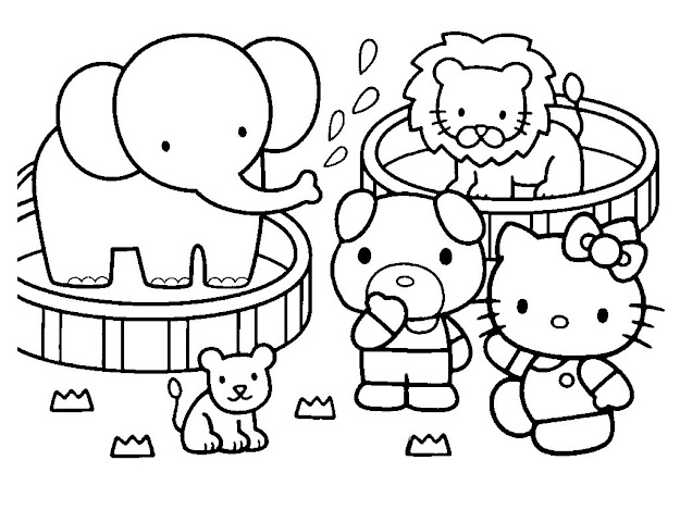 Printable Hello Kitty Coloring Pages For Kids Page Adult