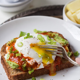 Harissa Avocado Toasts with Poached Egg.