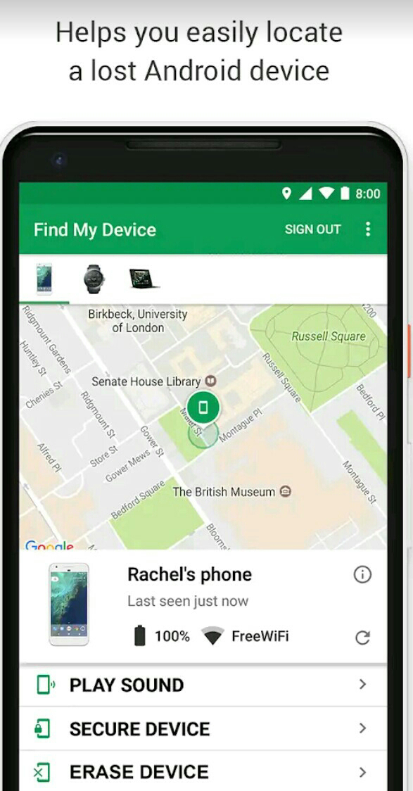 Download Google Find My Device Android Application