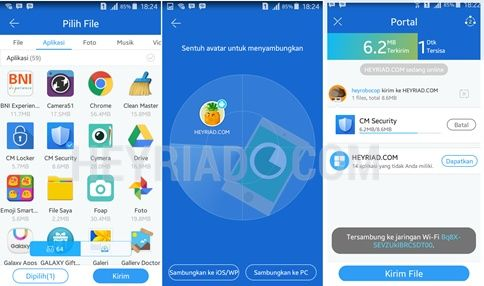 Salah satu trik menghemat paket data internet yang telah dibeli ialah dengan  Cara Mengirim Aplikasi Android Hanya 3 Detik