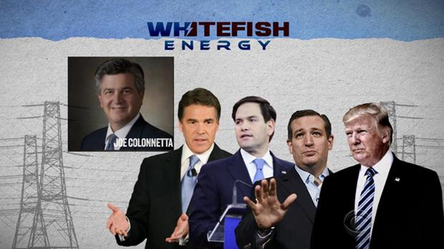 One of Whitefish Energy's top investors has donated to Energy Secretary Rick Perry, Senators Marco Rubio and Ted Cruz -- and President Trump. Graphic: CBS News