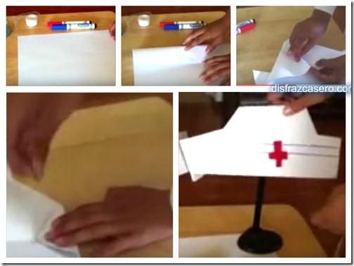 Worksheet. Como hacer cofia de enfermera de cartulina