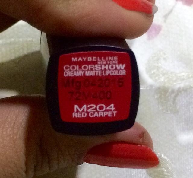 e3c32ac6a Alluring Glamour  Maybelline ColorShow Creamy Matte Lipstick- Red Carpet