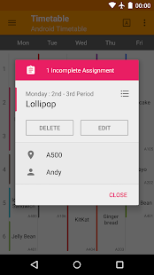 Classnote : Simple Timetable- screenshot thumbnail