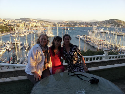 Myself and dear friends Gizem Salcigil White and Lillie Teacha Marshall, Hotel Kismet, Kusadasi, Turkey