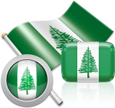 Norfolk Island flag icons pictures collection