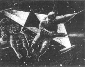Radio Times illustration for Orbiter X