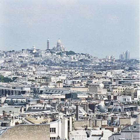 View of Montmartre and Sacre=Coeur from Arc De Triomphe